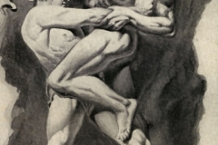 The Awful Fight Between Theseus and the Minotaur